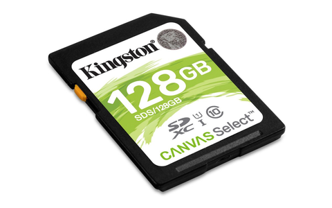 Kingston CL10UHS-I SDS/128GB Memoria SD 128GB Clase 10 SDHC Canvas Select 100R