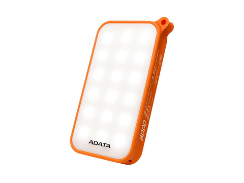 Adata D8000 L Power Bank Bateria Recargable Lámpara, Naranja - ordena-com