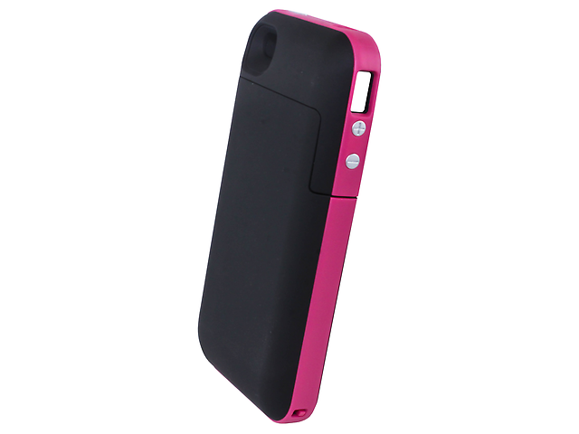 Funda Con Bateria Recargable Rosa Iphone4