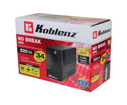 Koblenz 5216 R No Break , 240w, 520va, Entrada 90-145v, Sali