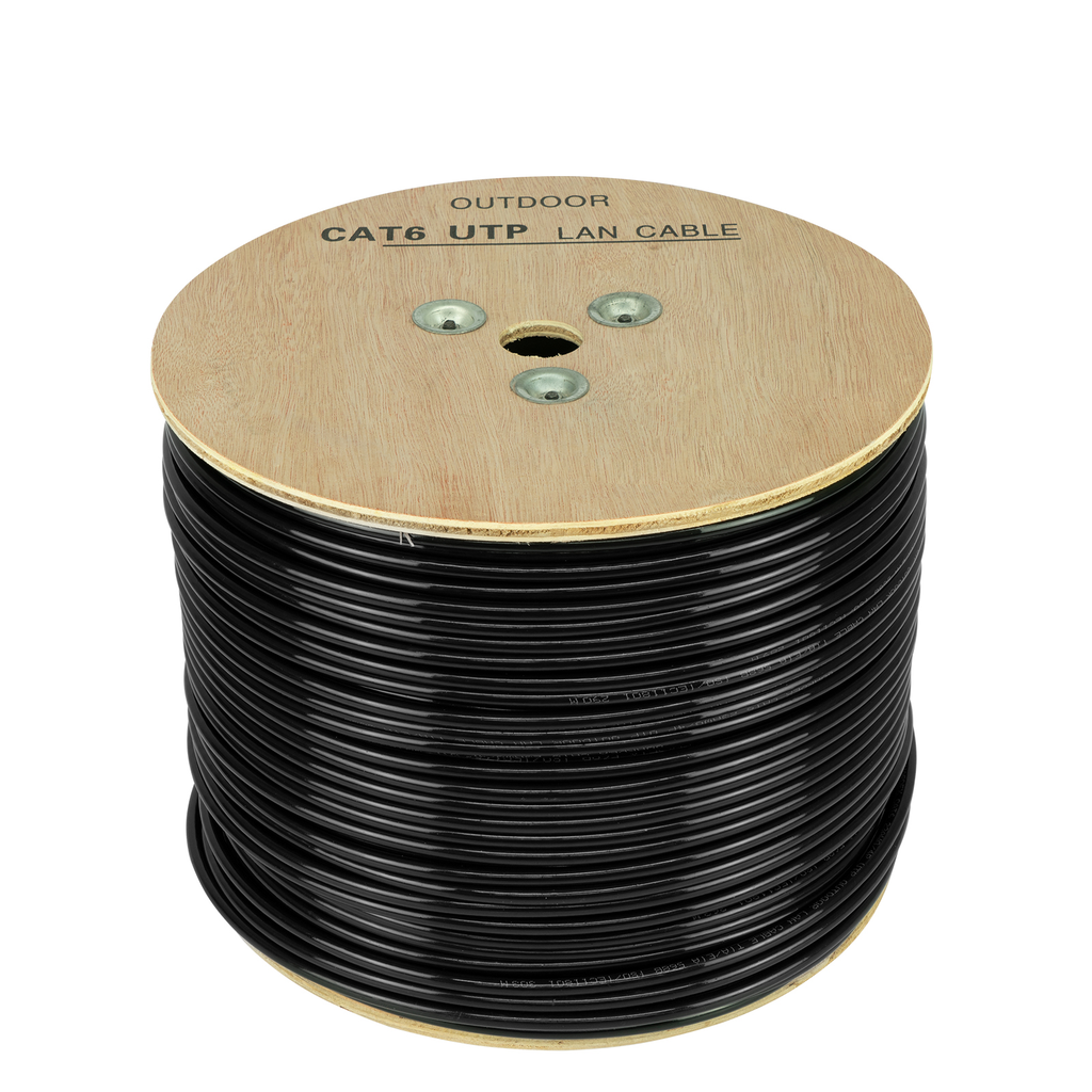 Cable Blindado para Exterior de Red UTP Calibre .56mm Cat 6e