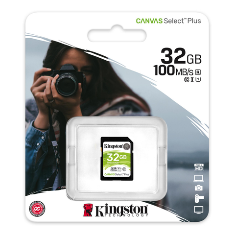Kingston Sds2/32gb Memoria Sd Sdhc Canvas Select 100r Cl10 Uhs-I V10