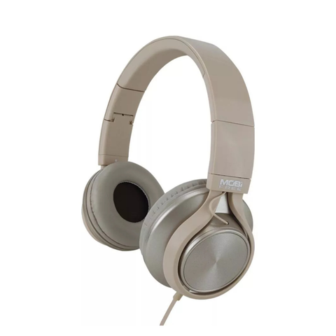 Acteck Audifonos Café Claro Metal On Ear Con Microfono
