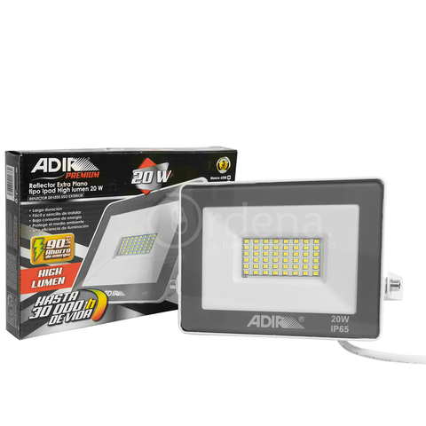 Reflector De Luz Led Adir 6258 Tipo iPad 20w