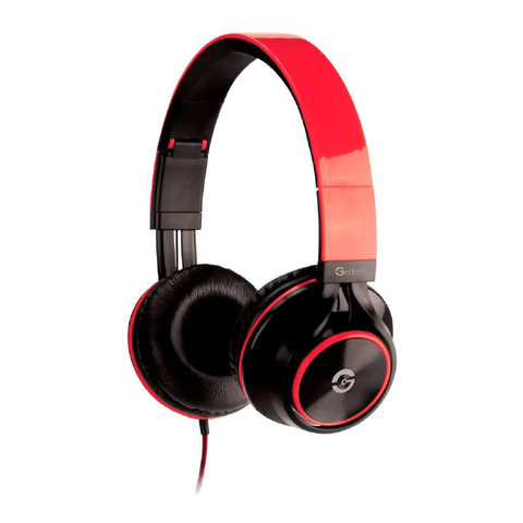 Getttech Gh 3100r Diadema Headset Sonority 3.5mm Mic Rojo