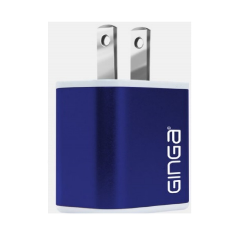 Ginga Cargador Pared Cubo Azul 2 Usb 2a