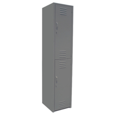 Locker De 2 Puertas 1.80mx37cmx38cm Metalico Color Gris