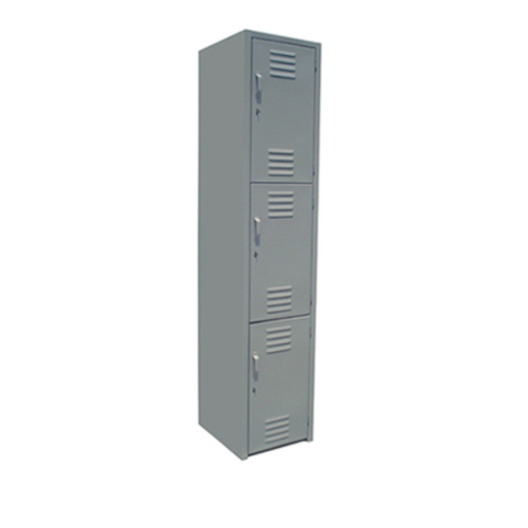 Locker De 3 Puertas 1.80mx37cmx38cm Metalico Color Gris