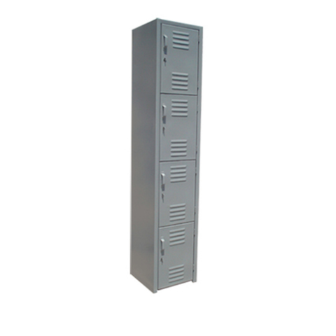 Locker De 4 Puertas 1.80mx37cmx38cm Metalico Color Gris
