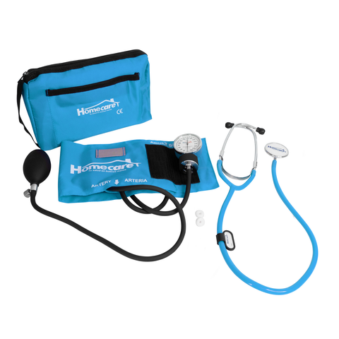 Homecare Dmh2000 Kit Baumanómetro Estetoscopio Simple Homecare Turquesa