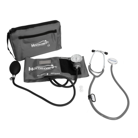 Homecare Dmh2000 Kit Baumanómetro Estetoscopio Simple Homecare Gris