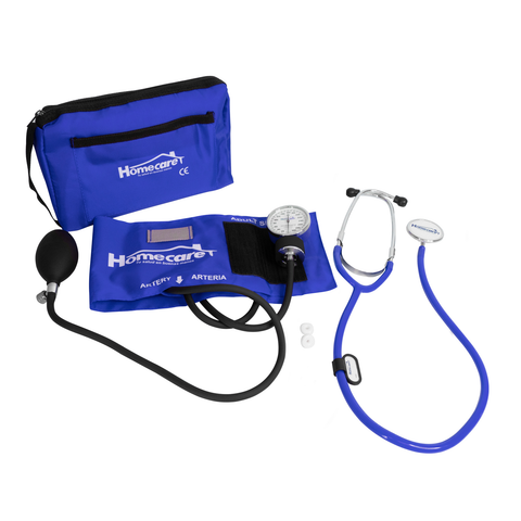 Homecare Dmh2000 Kit Baumanómetro Estetoscopio Simple Homecare Azul Rey