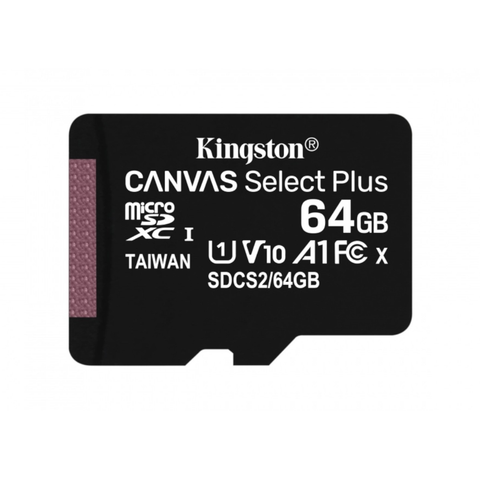 Kingston 100r/85r Memoria 64 Gb Micro Sd Canvas Select Plus Cl10 Uhs-I