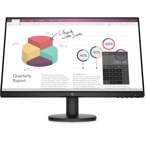 Monitor HP P24v G4 LED 23.8 pulg, Full HD, Widescreen, HDMI