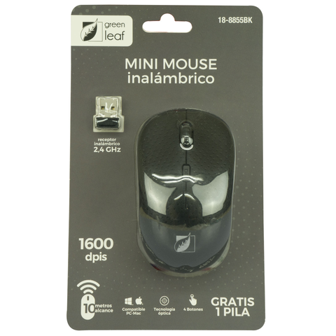 Green Leaf 18 8855 Bl Mouse Inalambrico Azul