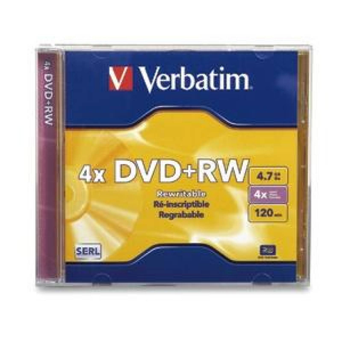DVD+RW Verbatim estuche 4.7gb 4x 120min regrabable vb94520