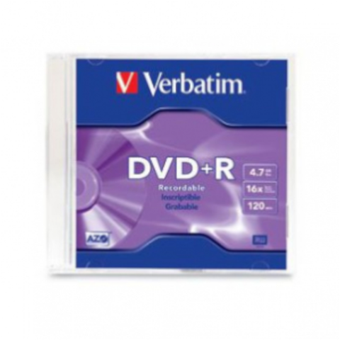 DVD+R Verbatim 16x 4.7gb single slim case vb95059