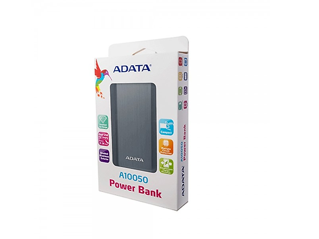 Adata A10050 Power Bank 10050MAH  AA10050-5V-CTI Titanium
