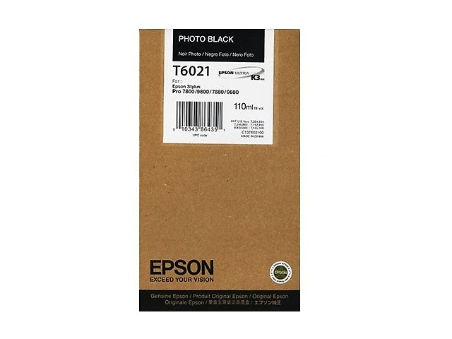 Epson T602 Cartucho Ultra Chrome K3 De 110 Ml Negro