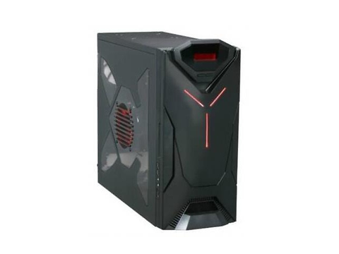 Nzxt 921 Rb 001 Rd Black Steel Guardian 921 Rb Red Led Atx Mid Tower Case