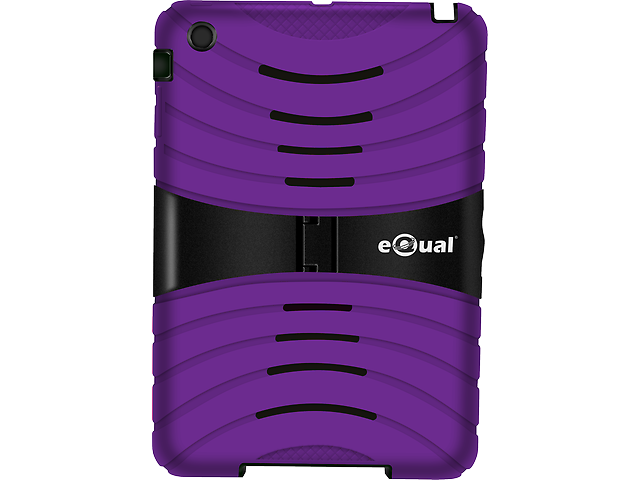 Equal Funda Uso Rudo Ipad Mini Morado   Negro