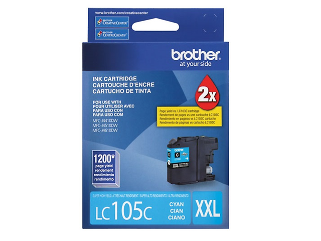 BROTHER LC105C Cartucho CYAN Super Alto Rendimiento 1200pag
