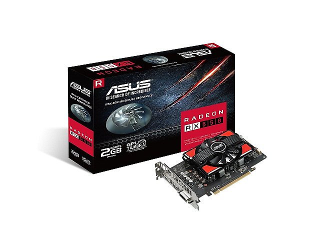 ASUS RX550 Tarjeta de Video 2GB 128-bit GDDR5, PCI Express 3.0