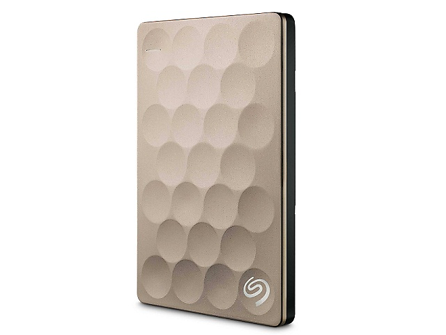 SEAGATE Backup Plus Disco Duro Externo Ultra Slim 2.5pulgadas, 2TB, USB 3.0, Oro