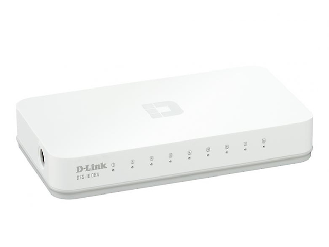 D-LINK DES-1008A, Switch 8 Puertos N-WAY Escritorio Fast Ethernet
