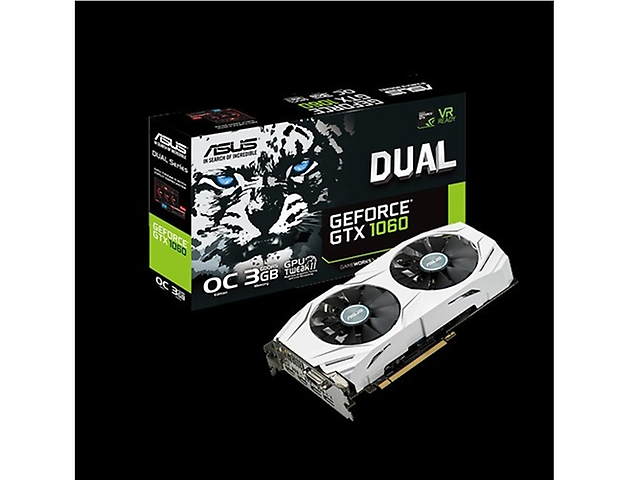 Asus DUAL-GTX1060-O3G Tarjeta de Video GTX1060/3GB DDR5 DVI/HDMI 2/Dplay Port