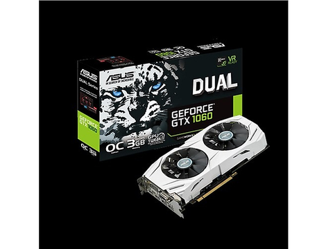 Asus Dual Gtx1060 O3 G Tarjeta De Video Gtx1060/3 Gb Ddr5 Dvi/Hdmi 2/Dplay Port