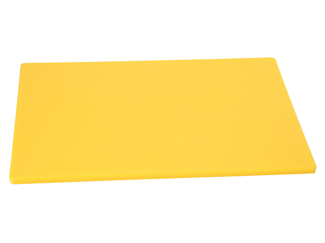Johnson Rose Tabla para Picar 12plgX18plgX1/2plg Polietileno Color Amarillo