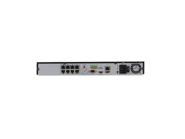 Hikvision DS-7608NI NVR 12 Mgpxl 8Can IP/8Puer 2 Bahias de Disco Duro Switch PoE