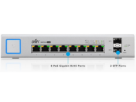 Ubiquiti Networks US-8-150W Switch UniFi Adm 8 Puer Gigabit PoE