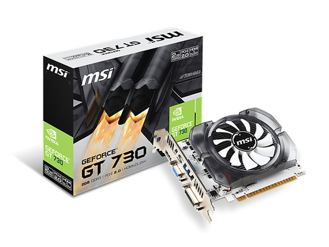 Msi N730 2 Gd3 V3 Geforce Gt 730 Tarjeta De Video Pci Express 2.0, Ddr3 2 Gb, 1 Dvi - ordena-com