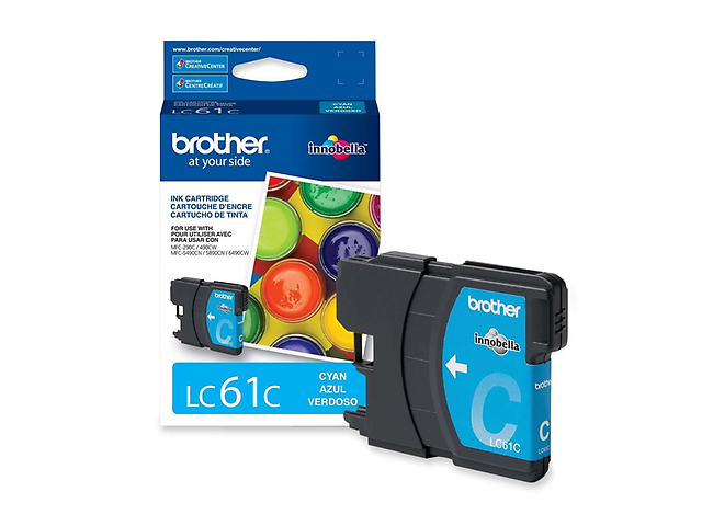 Brother Lc61 C Cartucho De Tinta P/Dcp165 C385 C Cian