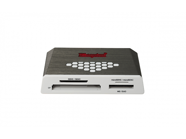 Kingston Fcr Hs4 Lector De Memoria Usb 3.0 High Speed, 5000 Mbit/S, Gris/Blanco - ordena-com.myshopify.com