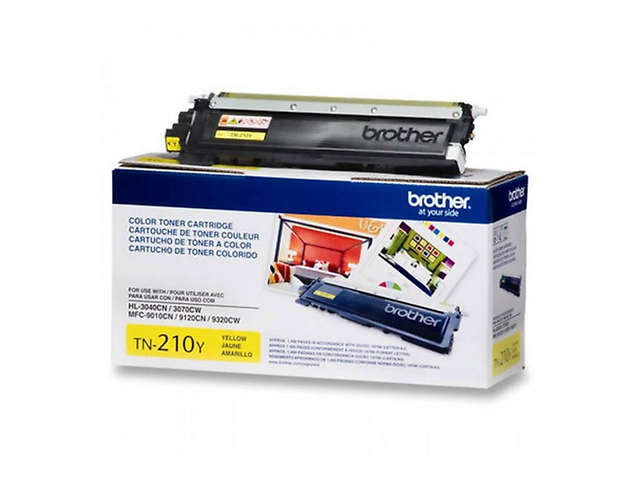 BROTHER TN210Y, Toner para Serie LED, 1,400 páginas AMARILLO