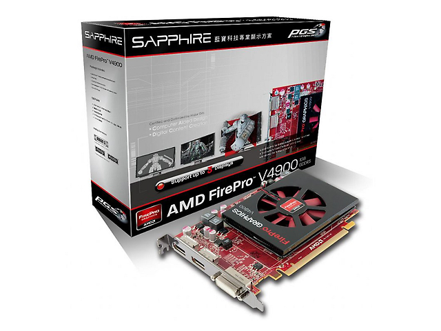 AMD V4900 FIREPRO tarjeta de Video 1G GDDR5 PCI-E DUAL DP / DVI-I FULL