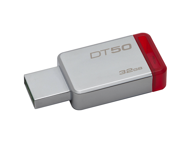Kingston Dt50 Memoria Usb Flash 3.0 32 Gb Metal/Roja - ordena-com.myshopify.com