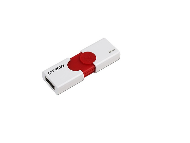 KINGSTON KC-U968G-4C6R Memoria USB 8GB DT106 DataTraveler Roja