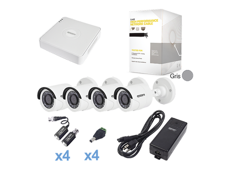 Epcom Kestxlt4 Bw Kit Cctv Sistema Turbo Hd720p Dvr 4 Ch 4 Cam Balas Color Blanco - ordena-com