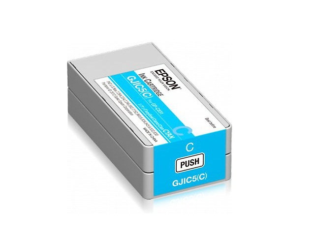 Epson GJIC5 Cartucho 32.5ml P/ColorWorks C831 Color Cian
