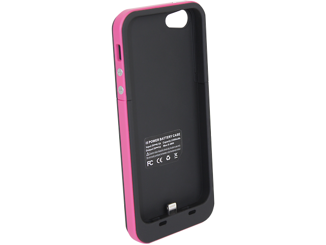 Funda Con Bateria Recargable Rosa Iphone5