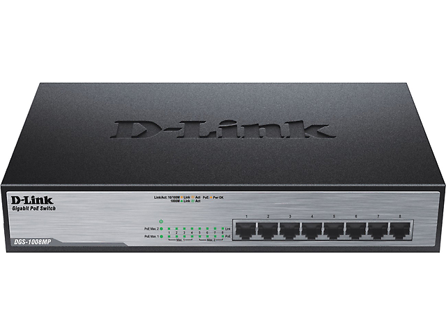 D-LINK DGS-1008MP SWITCH 8 PUERTOS POE GB PAR RACK