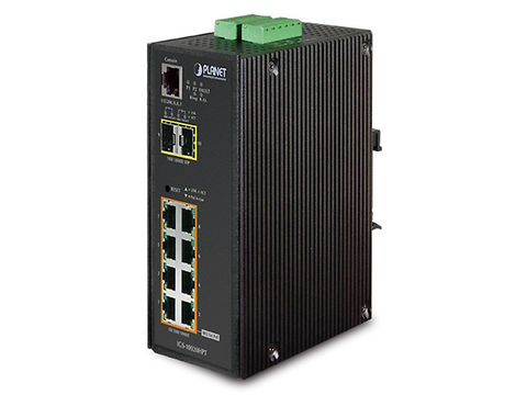 Planet Igs 10020 Hpt Switch Industrial 8 Puertos Po E 802.3at Gigabit 2 Puertos Sft - ordena-com.myshopify.com