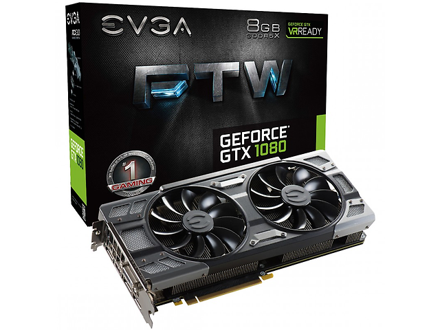 EVGA 08G-P4-6286-KR TARJETA DE VIDEO GTX1080 FTW GAMING ACX 8GB GDD