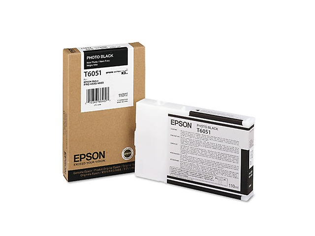 Epson T605100 Cartucho UltraChrome K3,110ml,Negro Fotográfico