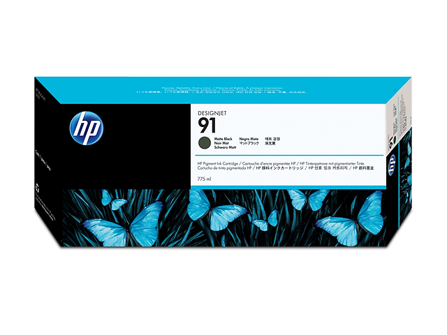 HP 91 Cartucho C9464A 775ml ,Negro Mate
