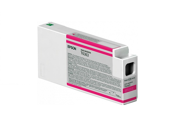 Epson T636300 Cartucho UltraChrome HDR 700ml,Magenta Vivo